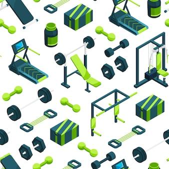 Isometrische fitnessstudio muster