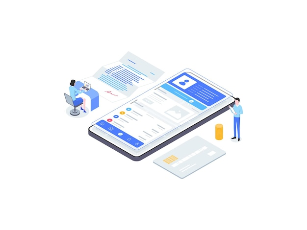 Isometrische flache illustration der versicherung. geeignet für mobile apps, websites, banner, diagramme, infografiken und andere grafische elemente.
