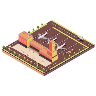 Isometrische flughafen