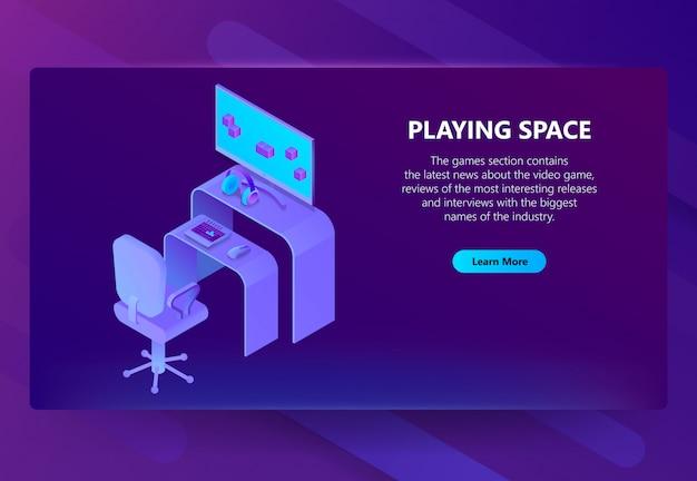 Isometrische gaming-website, unterhaltung nachrichten