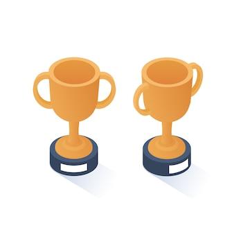 Isometrische gold cups.