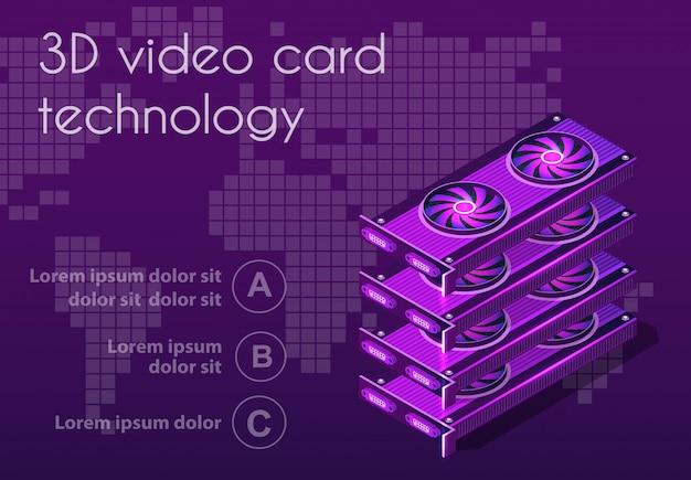 Isometrische grafische grafikkarte 3d