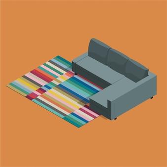 Isometrische ikea sofa friheten