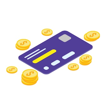 Isometrische ikone der kreditkarte - vetorial