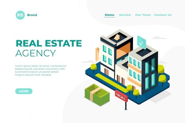 Isometrische immobilien