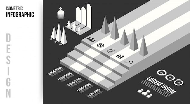 Isometrische infografik design-konzept