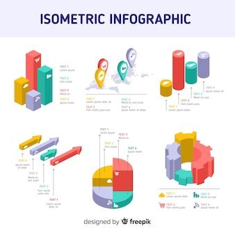 Isometrische infografik elemente vorlage