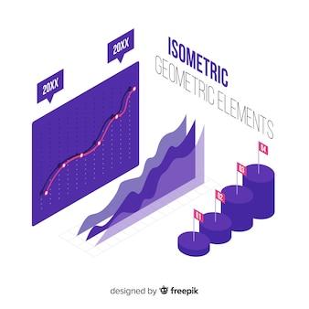Isometrische Infografik Elementsammlung