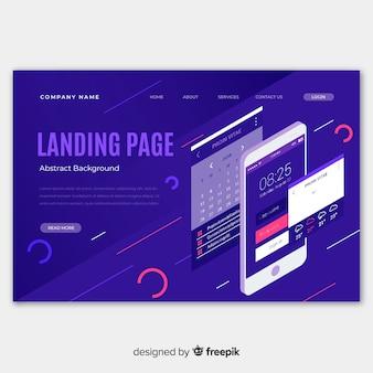 Isometrische infografik-landingpage