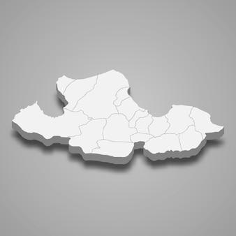 Isometrische karte von samsun ist eine provinz der türkei