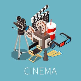 Isometrische komposition des kinos