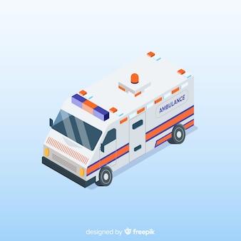 Isometrische Krankenwagen-Design