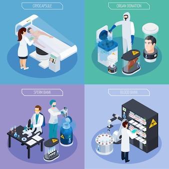 Isometrische kryogenetik-design-konzept