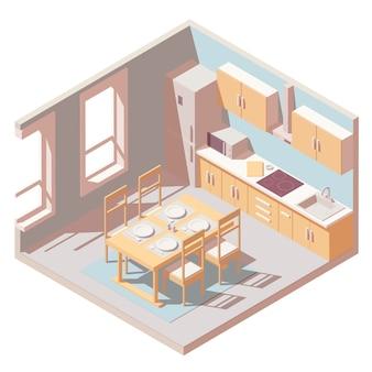 Isometrische küche zimmer