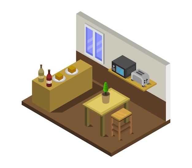 Isometrische küche
