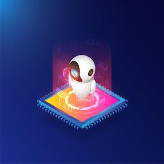 Isometrische künstliche intelligenz mit server