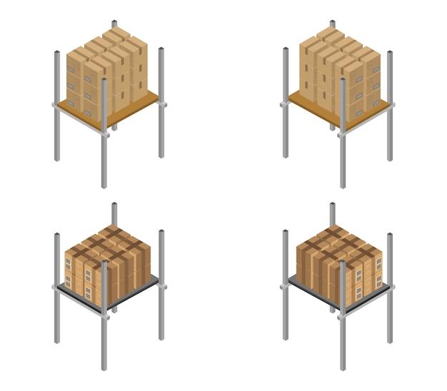 Isometrische lagerregale