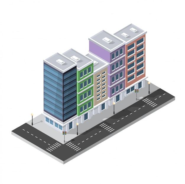 Isometrische landschaft 3d der computerinternet-ikone von