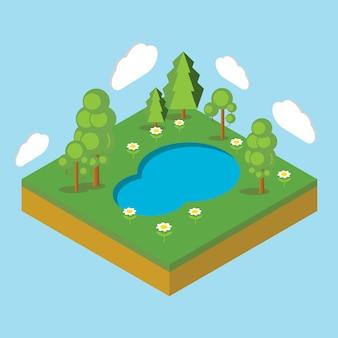 Isometrische landschaft