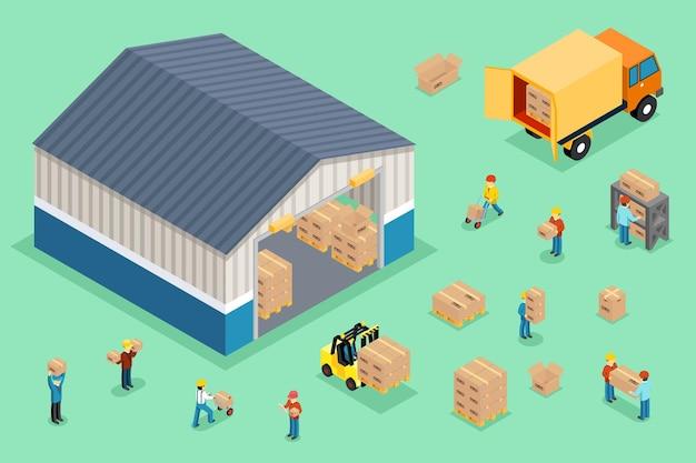 Isometrische lieferung und logistik