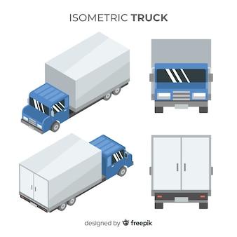 Isometrische lkw in verschiedenen ansichten