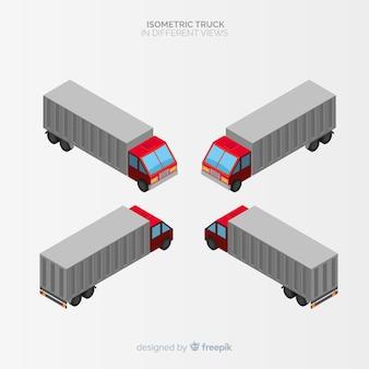 Isometrische lkw perspektiven sammlung