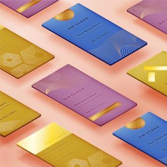 Isometrische luxuriöse vip-kartenvorlage