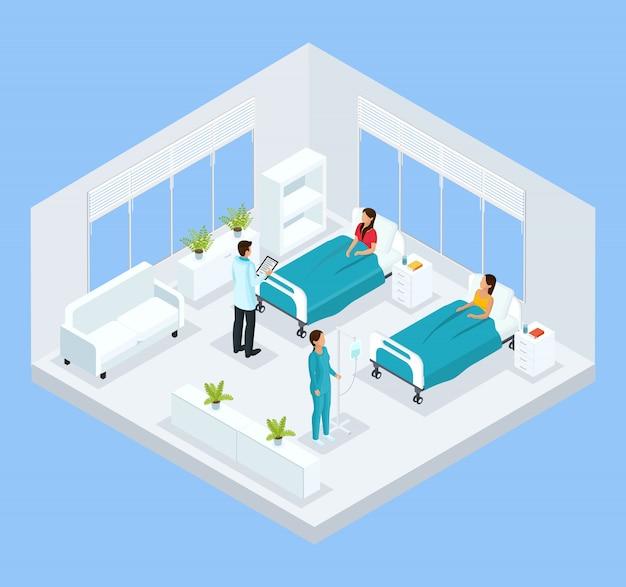 Isometrische medizinische behandlungsvorlage