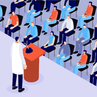 Isometrische medizinische konferenz