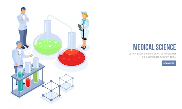 Isometrische medizinische wissenschaft konzept.
