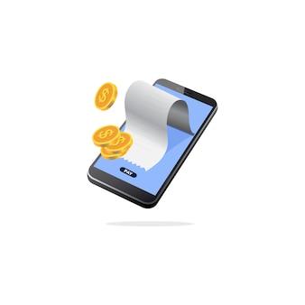 Isometrische mobile zahlung
