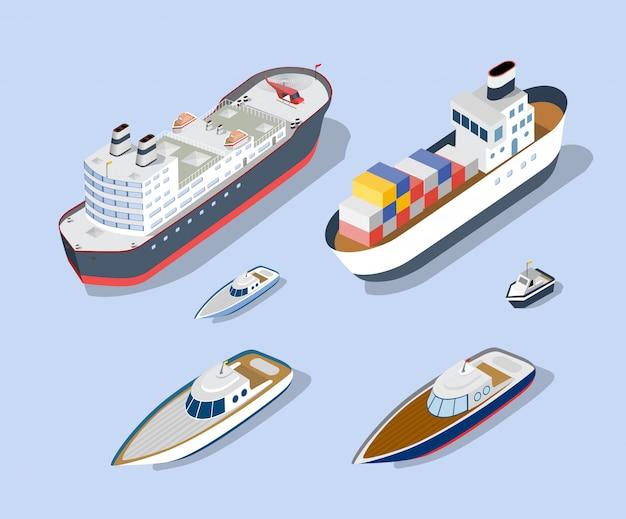 Isometrische modelle von schiffen