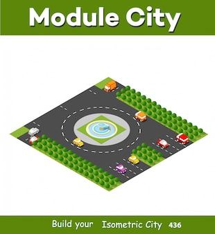 Isometrische modulbereich innenstadt