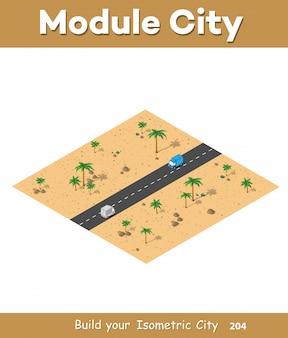 Isometrische module für den bau
