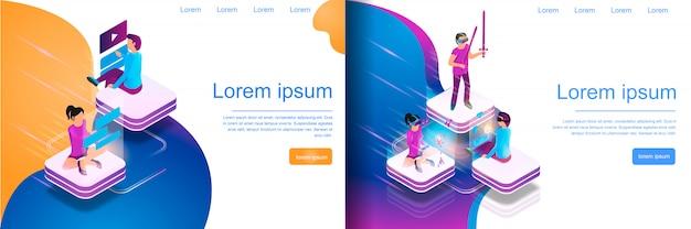 Isometrische onlinekommunikation, virtuelles spielen