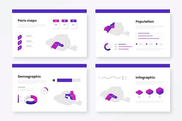 Isometrische pariser kartenvorlage