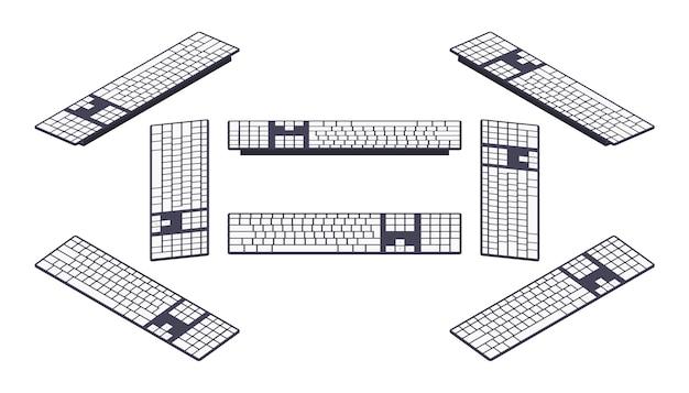 Isometrische pc-tastatur