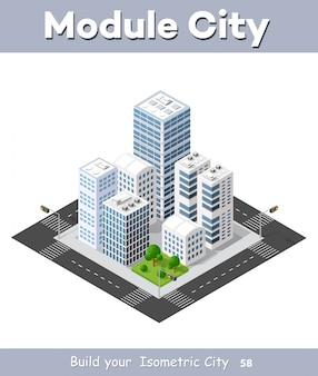 Isometrische perspektive stadt