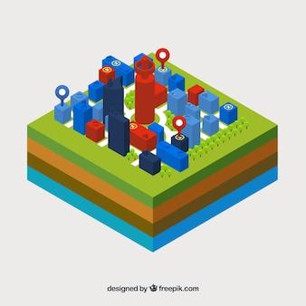 Isometrische pin-karte