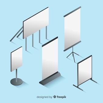 Isometrische plakatwandsammlung