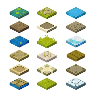 Isometrische plattformen eingestellt