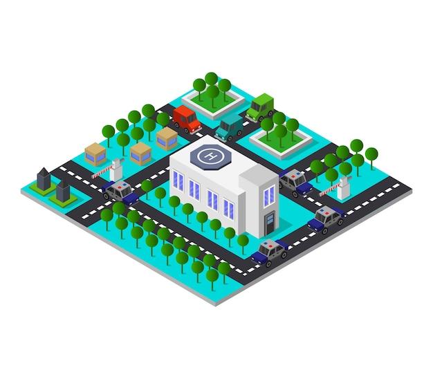 Isometrische polizeistation