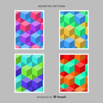 Isometrische polygonale artbroschüren-satz