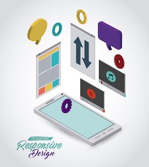 Isometrische responsive icon design