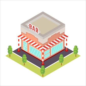 Isometrische restaurant-symbol.