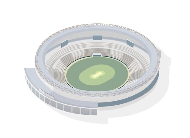 Isometrische runde arena