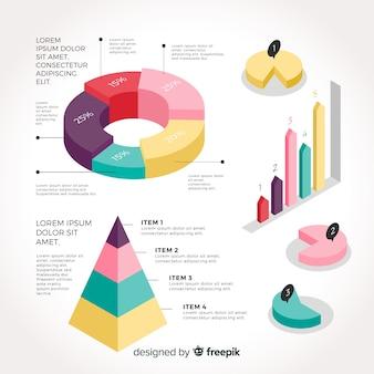 Isometrische sammlung von infografik-elementen