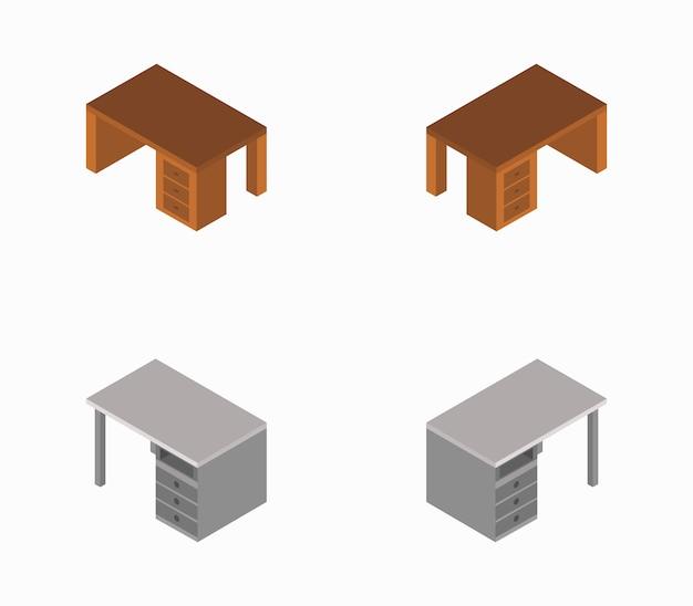 Isometrische schreibtisch büro