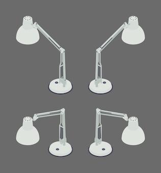Isometrische schreibtischlampe