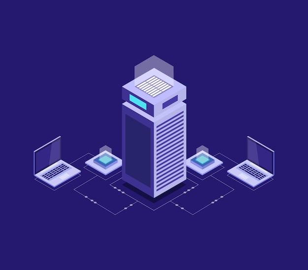 Isometrische serverdatenbank